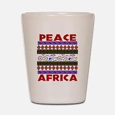 Africa Peace Shot Glass