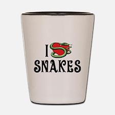 I Love Snakes Shot Glass