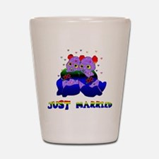 Just Married Bears Shot Glass