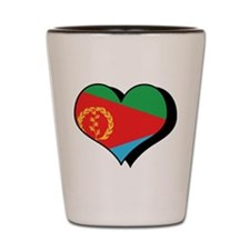 I Love Eritrea Shot Glass