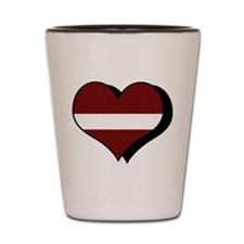 I Love Latvia Shot Glass