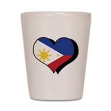 I Love The Philippines Shot Glass