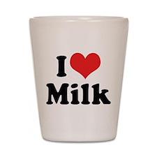 I Love Milk 2 Shot Glass
