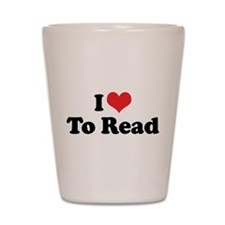 I Love To Read 2 Shot Glass