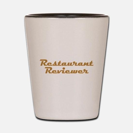 Restaurant Reviewer Shot Glass