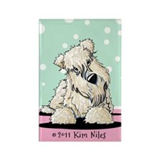 Easter Wheaten Terrier Rectangle Magnet
