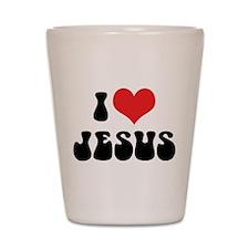 I Love Jesus 2 Shot Glass