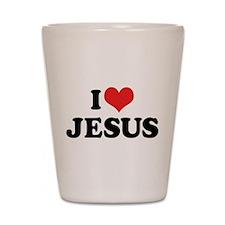 I Love Jesus 3 Shot Glass