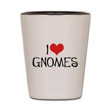 I Love Gnomes 2 Shot Glass