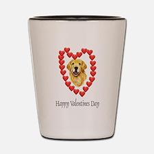 Valentine Dog Shot Glass