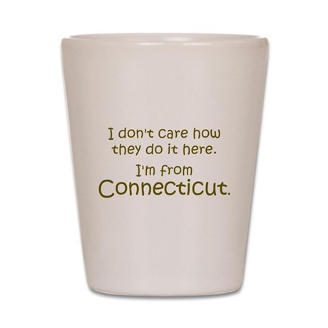 From Connecticut Shot Glass