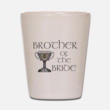 Celtic Brother Bride Shot Glass