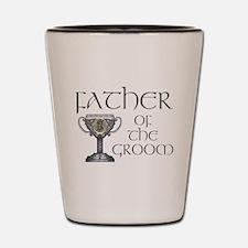 Celtic Father Groom Shot Glass