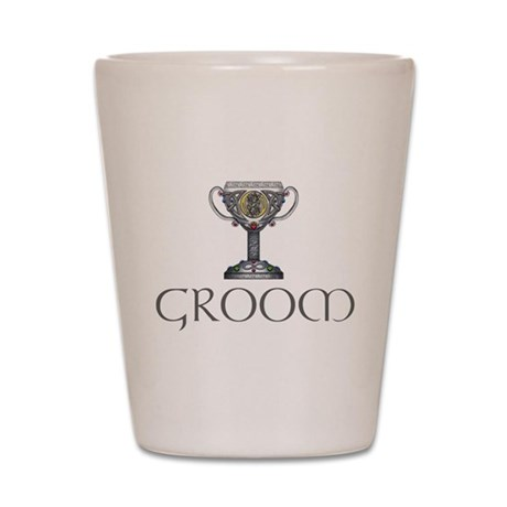 Celtic Groom Shot Glass