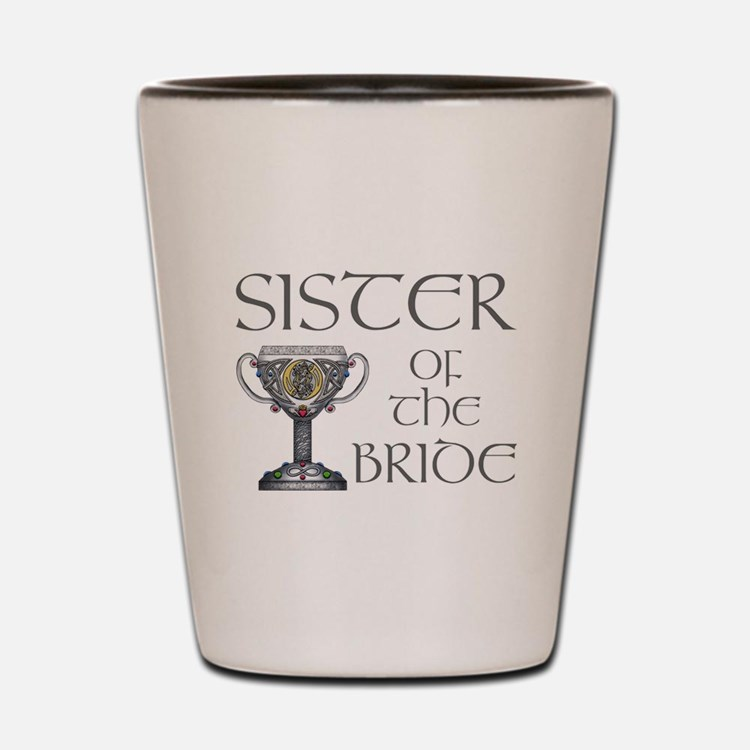 Celtic Sister of Bride Shot Glass