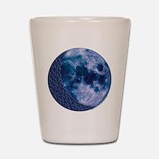 Celtic Knotwork Blue Moon Shot Glass