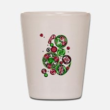 Christmas Celtic Spirals Shot Glass