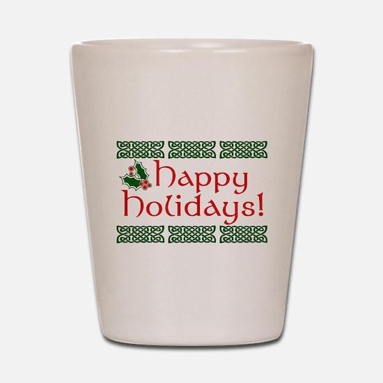 Happy Holidays Shot Glass