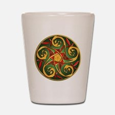 Celtic Pentacle Spiral Shot Glass