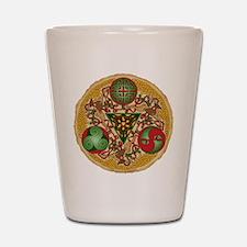 Celtic Reindeer Shield Shot Glass
