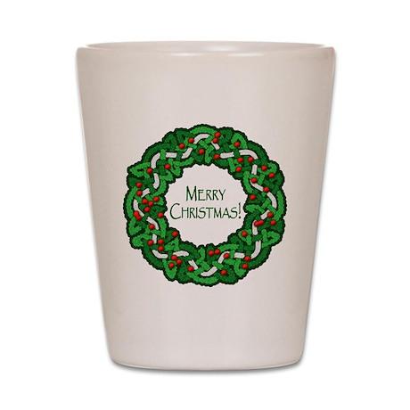 Celtic Christmas Wreath Shot Glass
