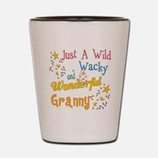 Wild Wacky Granny Shot Glass