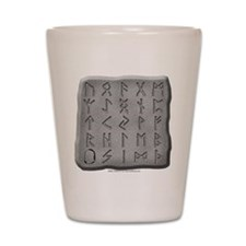 Stone Carved Runes Shot Glass
