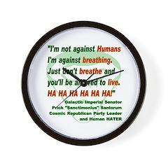 Anti-Human Wall Clock