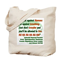 Anti-Human Tote Bag