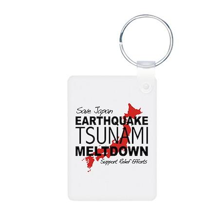 Earthquake Tsunami Meltdown J Aluminum Photo Keych