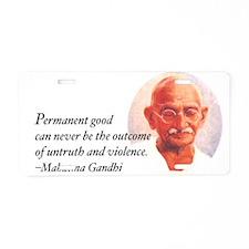 Gandhi Wisdom Aluminum License Plate