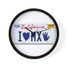 Cute California license Wall Clock