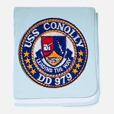 USS CONOLLY baby blanket