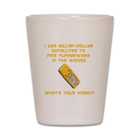 Geochaching What's Your Hobby Shot Glass