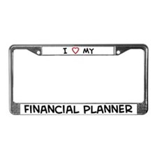 I Love Financial Planner License Plate Frame
