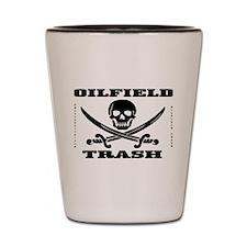 Oil Field Trash,Skull Shot Glass,Oil,Barware