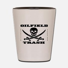 Oil Field Trash,Skull Shot Glass,Oil,Barware
