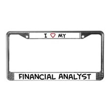 I Love Financial Analyst License Plate Frame