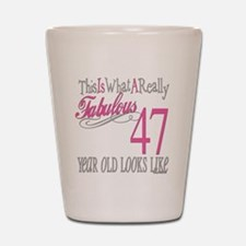 47th Birthday Gifts Shot Glass