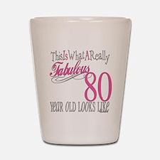 80th Birthday Gift Shot Glass