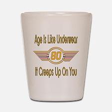 Funny 80th Birthday Shot Glass