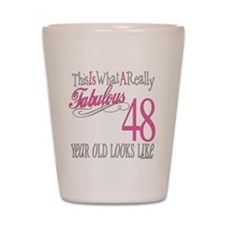 48th Birthday Gifts Shot Glass
