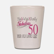 50th Birthday Gifts Shot Glass