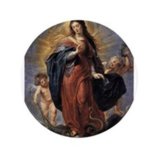 "Immaculate Conception 3.5"" Button"