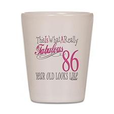 86th Birthday Gifts Shot Glass