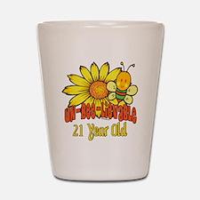 Un-Bee-Lievable 21st Shot Glass