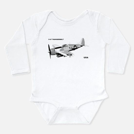 P-47 Long Sleeve Infant Bodysuit