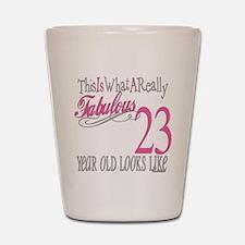 23rd Birthday Gifts Shot Glass