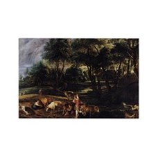 Landscape with Cows Rectangle Magnet
