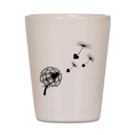 Dandelion Love Shot Glass